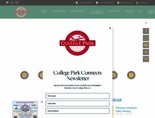 collegeparkga.com screenshot