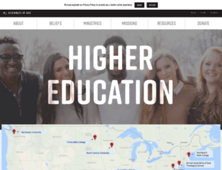 colleges.ag.org screenshot