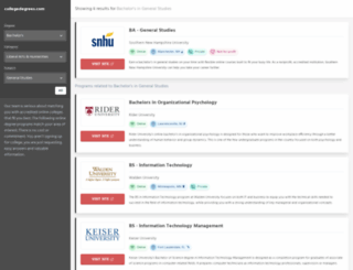 colleges.open-site.org screenshot