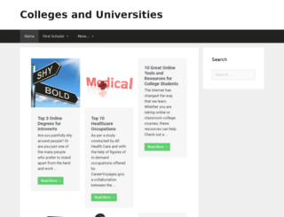 collegesanduniversities.org screenshot
