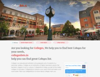 collegeslists.in screenshot