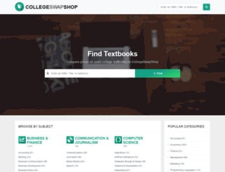 collegeswapshop.com screenshot