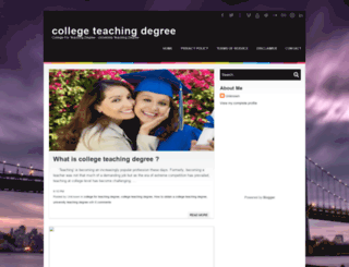 collegeteachingdegree.blogspot.com screenshot