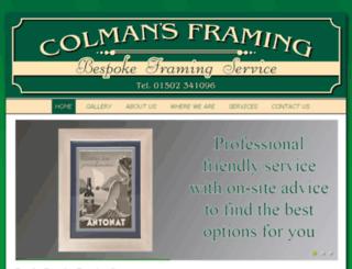 colmansframing.co.uk screenshot