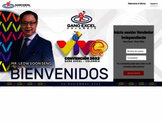 colombia.ganoexcel.com screenshot
