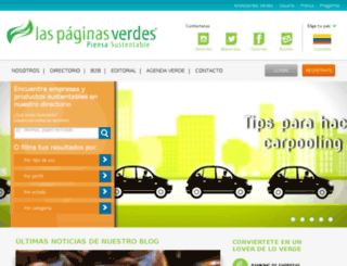 colombia.laspaginasverdes.com screenshot