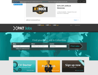 colombia.xpatjobs.com screenshot