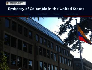 colombiaemb.org screenshot