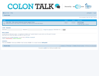 coloncancersupport.colonclub.com screenshot