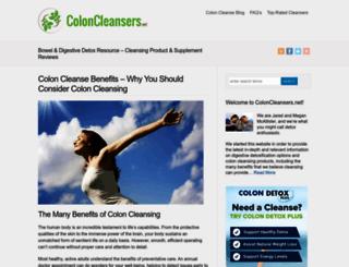 coloncleansers.net screenshot