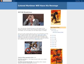 colonelmortimer.blogspot.com screenshot
