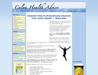 colonhealthadvice.com screenshot