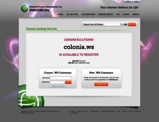 colonia.ws screenshot