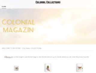 colonial-collections.weebly.com screenshot