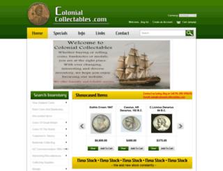colonialcollectables.com screenshot