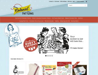colonialpatterns.com screenshot