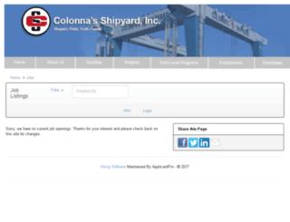 colonnashipyard.applicantpro.com screenshot