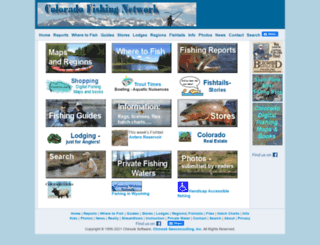 coloradofishing.net screenshot