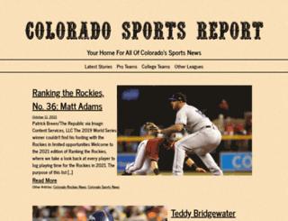coloradosportsreport.com screenshot