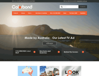 colorbond.com.au screenshot