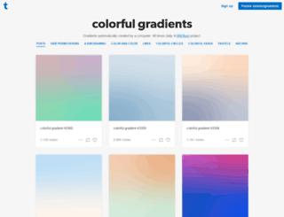 colorfulgradients.tumblr.com screenshot
