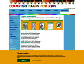 coloring-pages-kids.com screenshot