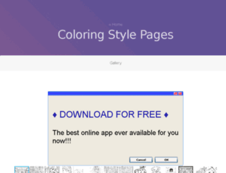 coloring.stylizr.com screenshot