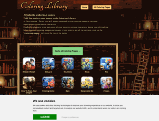coloringlibrary.com screenshot