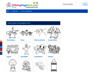 coloringpages101.com screenshot