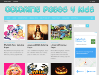 coloringpages4kidz.com screenshot