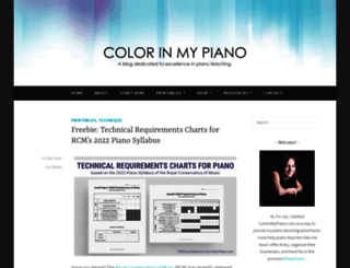 colorinmypiano.com screenshot