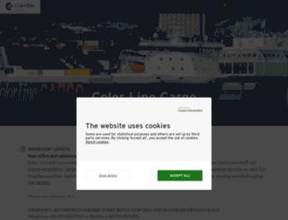 colorline-cargo.com screenshot