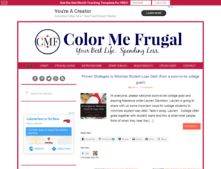 colormefrugal.com screenshot