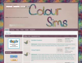 coloursims.missingstudios.com screenshot