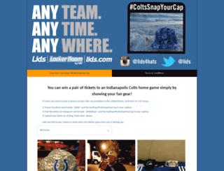 coltssnapyourcap.hscampaigns.com screenshot