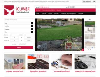 columba.sk screenshot