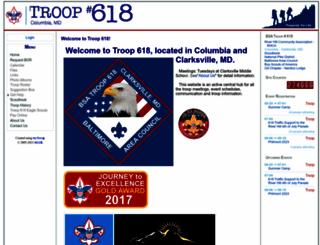 columbia618.mytroop.us screenshot