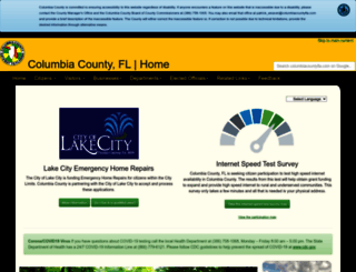 columbiacountyfla.com screenshot