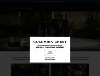 columbiacrest.com screenshot