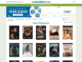columbiahouse.com screenshot