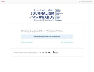 columbiajournalismawards.submittable.com screenshot