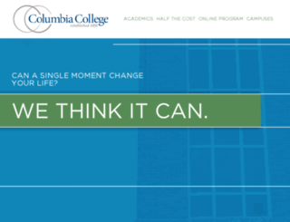 columbiamoment.com screenshot