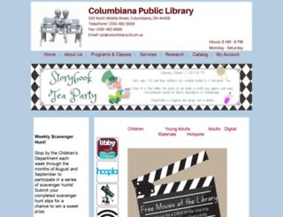 columbiana.lib.oh.us screenshot