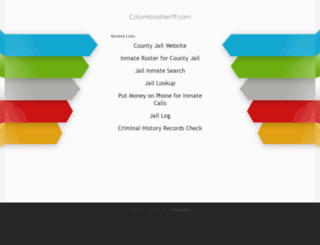 columbiasheriff.com screenshot