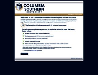columbiasouthern.studentaidcalculator.com screenshot