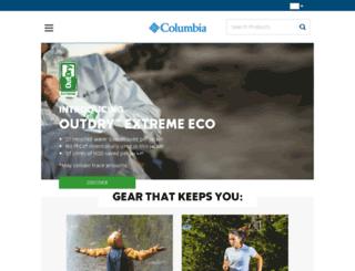 columbiasportswear.sk screenshot