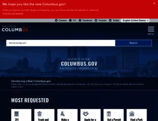 columbus.gov screenshot