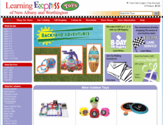 columbus.learningexpresstoys.com screenshot