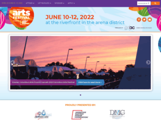 columbusartsfestival.org screenshot