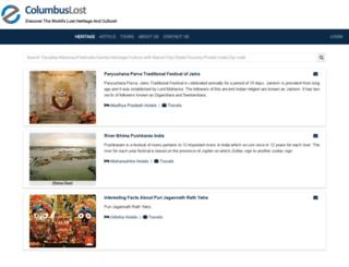 columbuslost.com screenshot